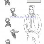 Foulard ascot homme - Comment nouer un foulard ascot ?