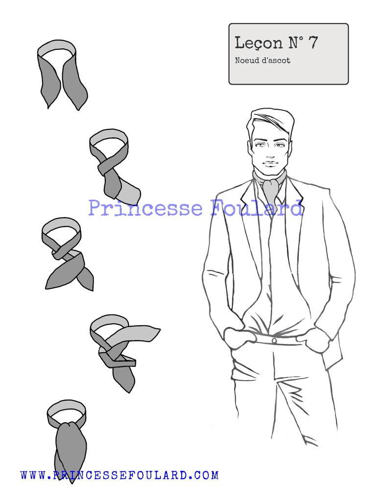 Comment faire un noeud ascot pour homme