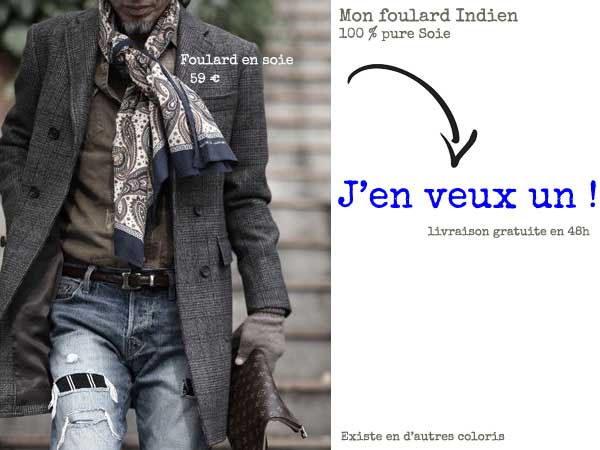 comment mettre foulard homme