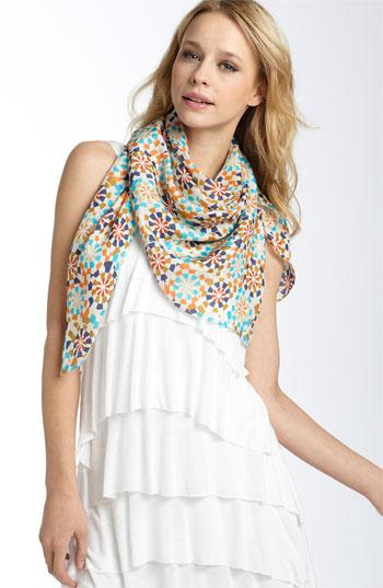 foulard soie motifs