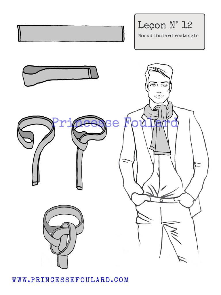 Nouer un foulard rectangulaire pour homme