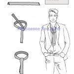 Noeud de cravate style gastby ou dandy italien avec un foulard