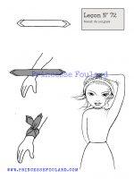 leçon numéro 72 :nœud de foulard au poignet