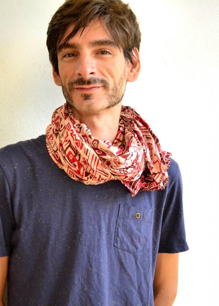 foulard homme nouer