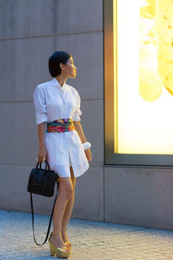 robe foulard ceinture