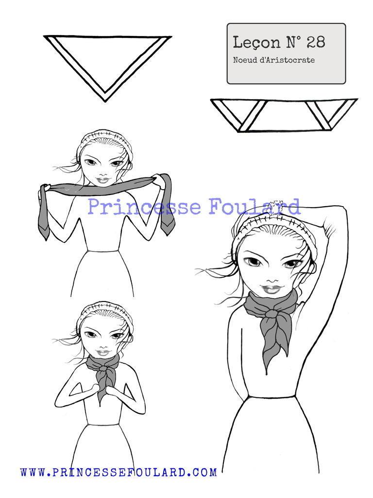da68b1fc706 Noeud de foulard artistocrate ou bourgeois