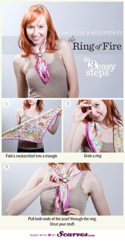 comment mettre bague de foulard
