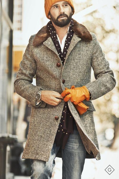 echarpe homme tendance mode