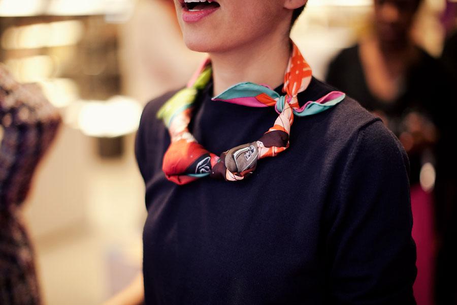 foulard en collier