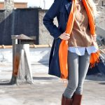 Foulard et écharpe orange comment porter, marier, associer le orange ?