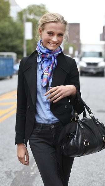 noeud foulard artistocrate