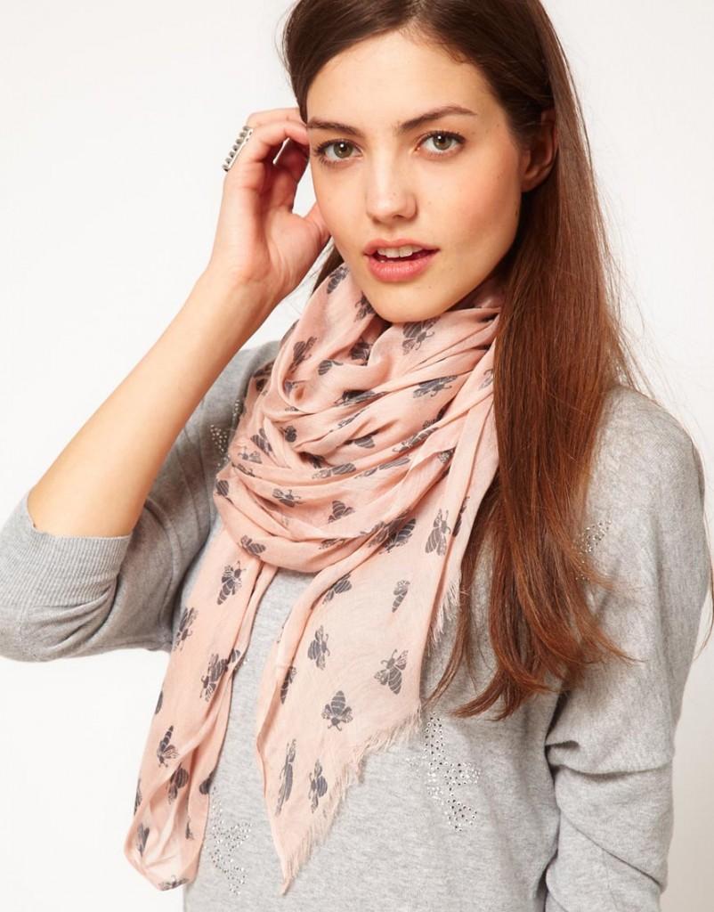 porter foulard long