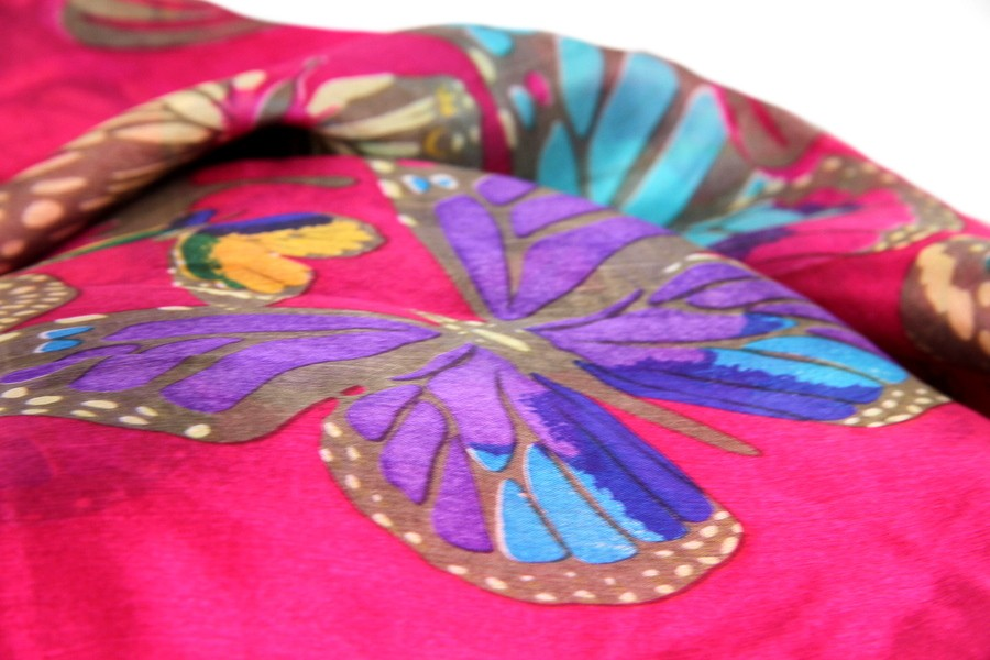 foulard echarpe rose femme homme