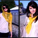 Foulard et écharpe jaune comment porter, marier, associer le jaune ?