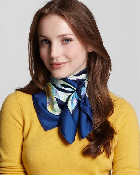 foulard soie satin
