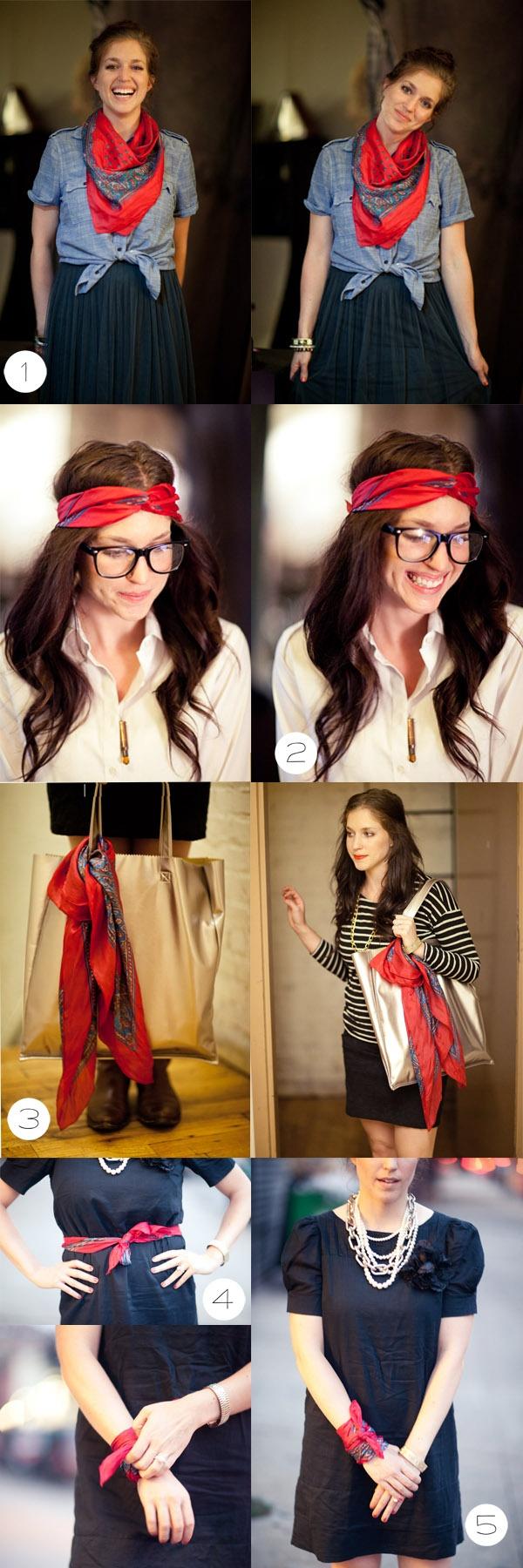 noeud foulard en soie