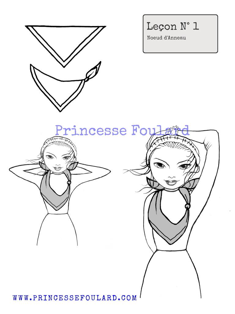 Comment nouer un foulard avec un anneau ? - Noeud de foulard anneau