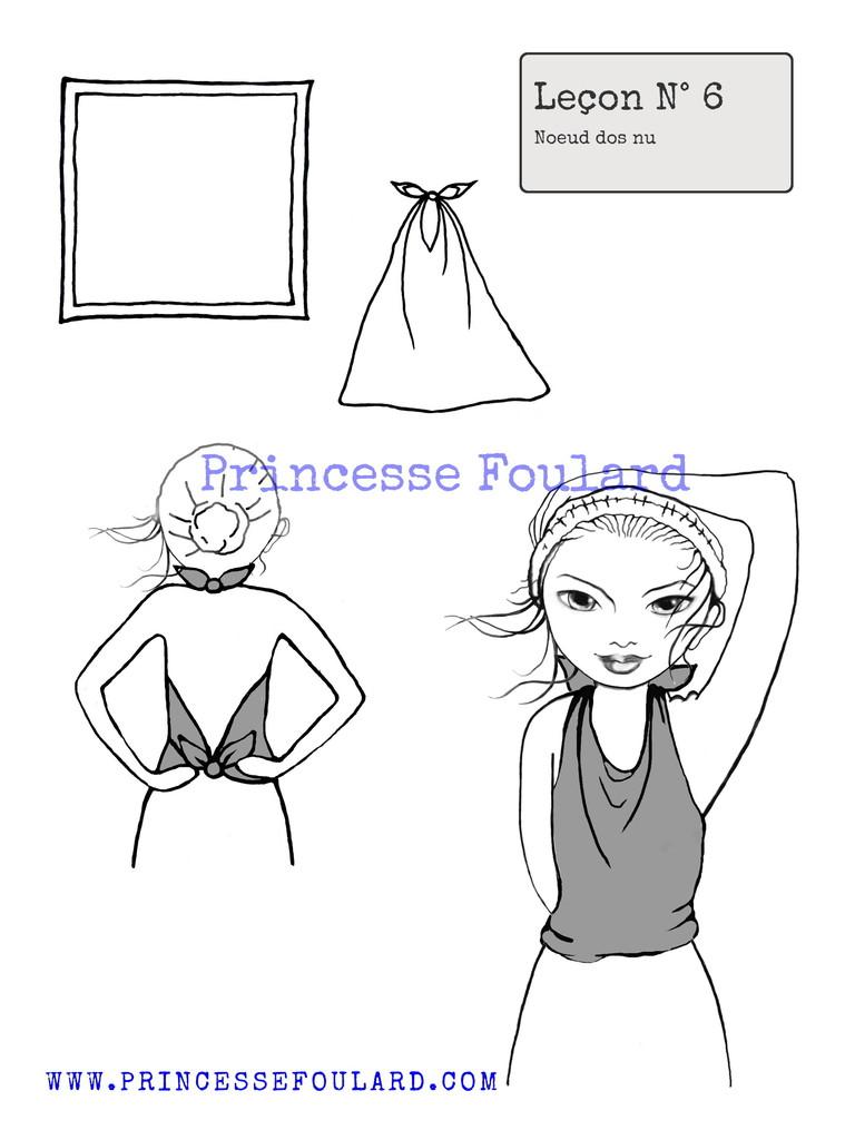 """Tuto Noeud de Foulard Dos nu par """"Princesse Foulard"""""""