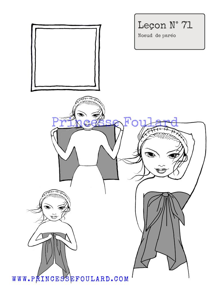 Tuto nouer le foulard en paréo http://www.princessefoulard.com