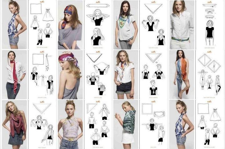 Favori Différentes façons et manières de porter un foulard YL77