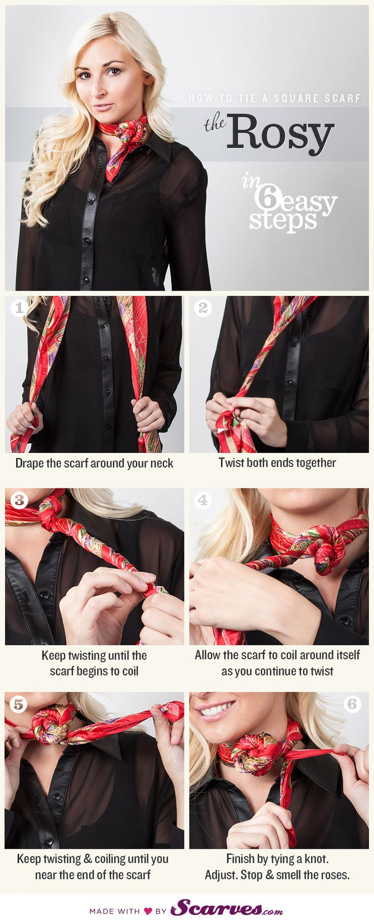 noeud de foulard femme