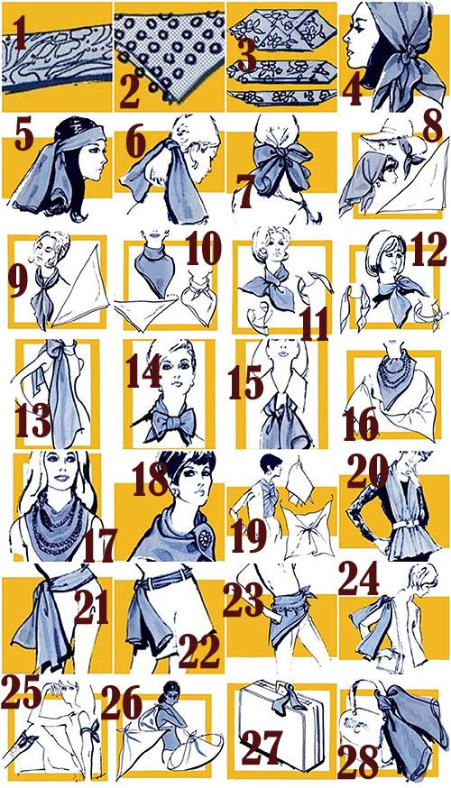 Assez Comment, mettre, nouer et porter un foulard carré ? FP79