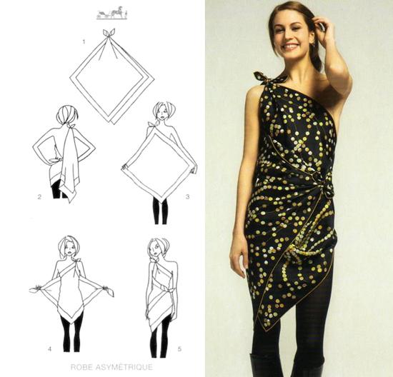 transformer foulard en robe