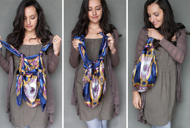 transformer foulard sac