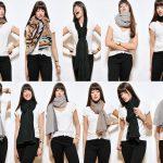 Diff rente mani re mettre et porter foulard - Differentes facons de porter un foulard ...