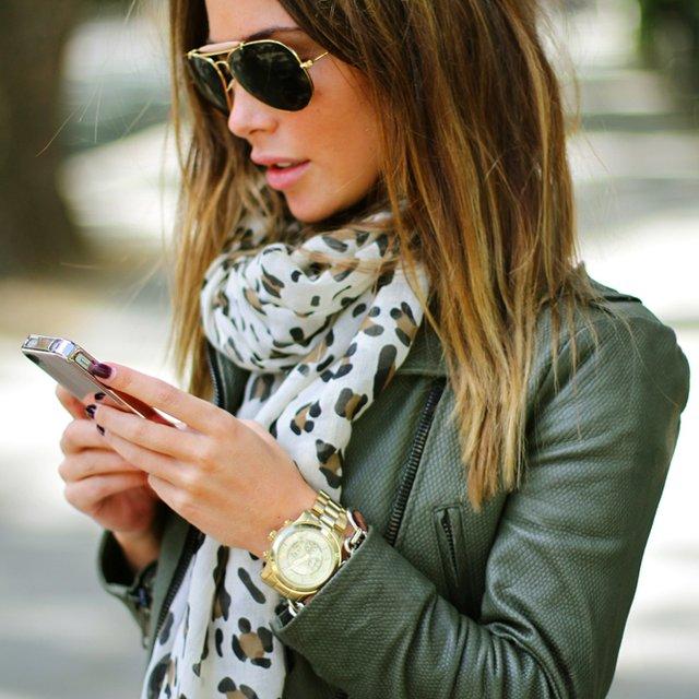 foulard bronze