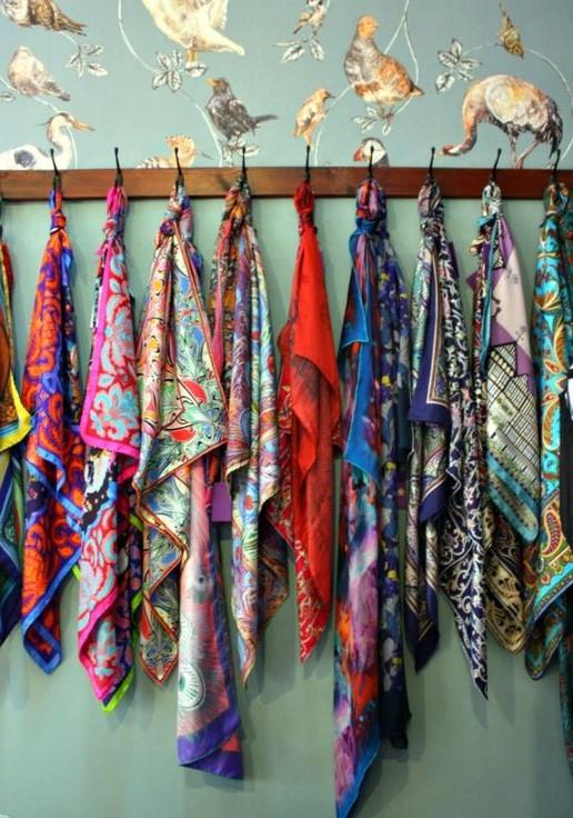 idee astuce rangement foulard