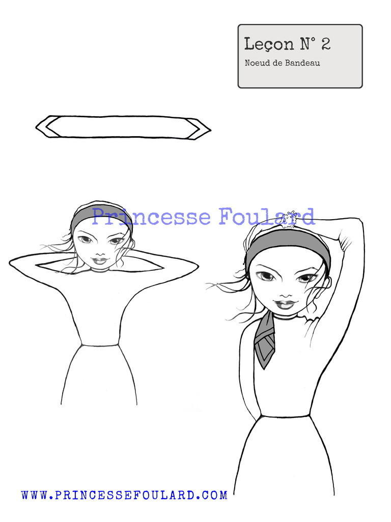 nouer le foulard en bandeau
