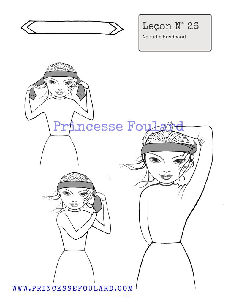 "Tuto Noeud de Foulard d'Headband par ""Princesse Foulard"""
