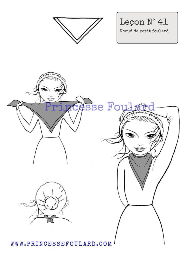 Nouer un petit foulard