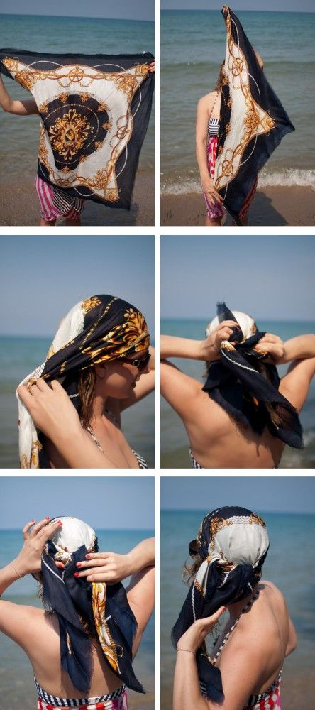 Coiffure foulard technique