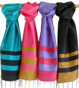 foulard soie cambodgienne cambodge