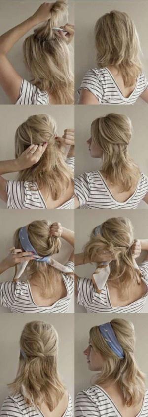 mettre foulard bandeau cheveux