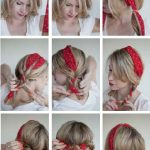 Comment nouer un foulard rectangulaire dans les cheveux ?