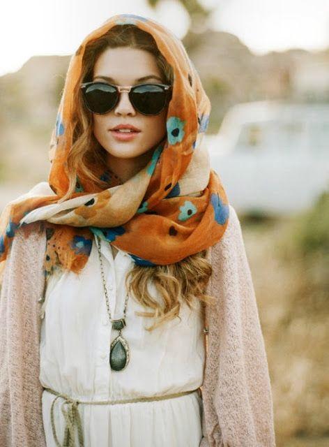 nouer porter foulard hiver