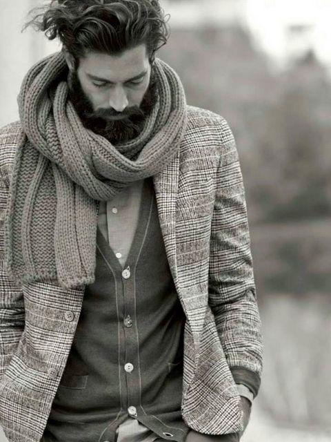 porter echarpe pour homme