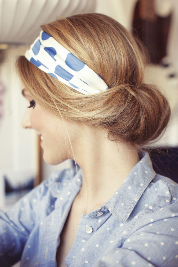 Comment mettre nouer un foulard en bandeau cheveux ou headband - Comment porter le headband ...