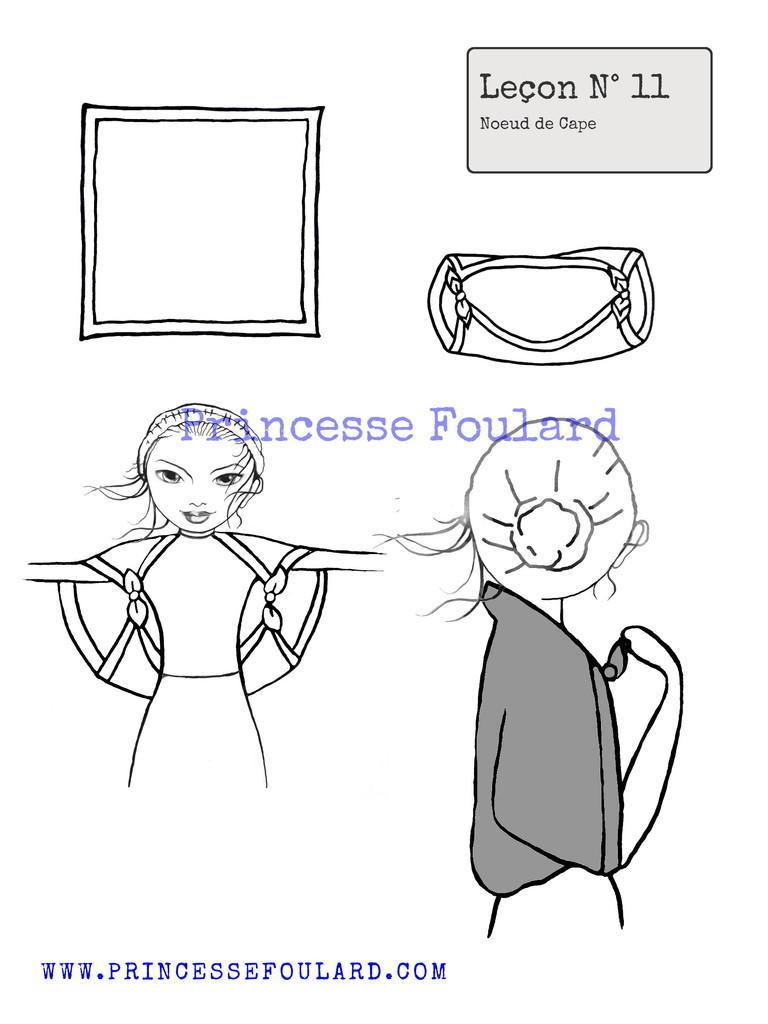Nouer le foulard en cape