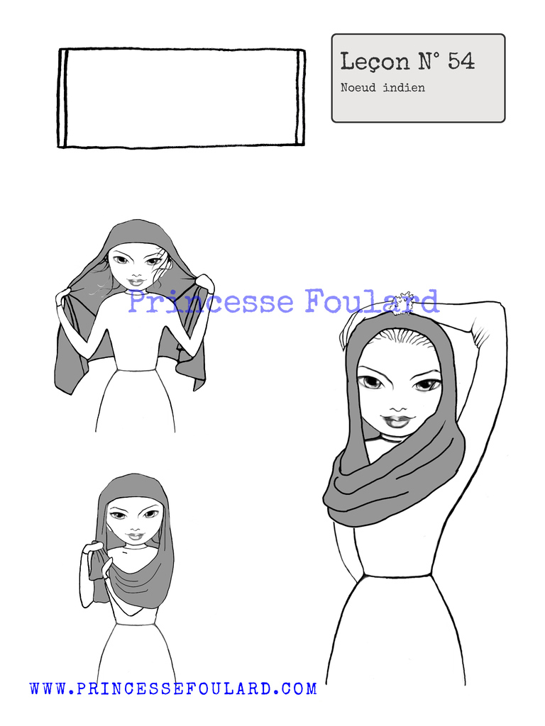 nœud de foulard indien