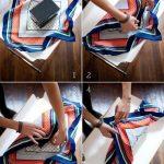 Emballage paquet cadeau avec foulard
