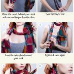 Comment mettre un mini, petit ou grand foulard noué autour du cou?