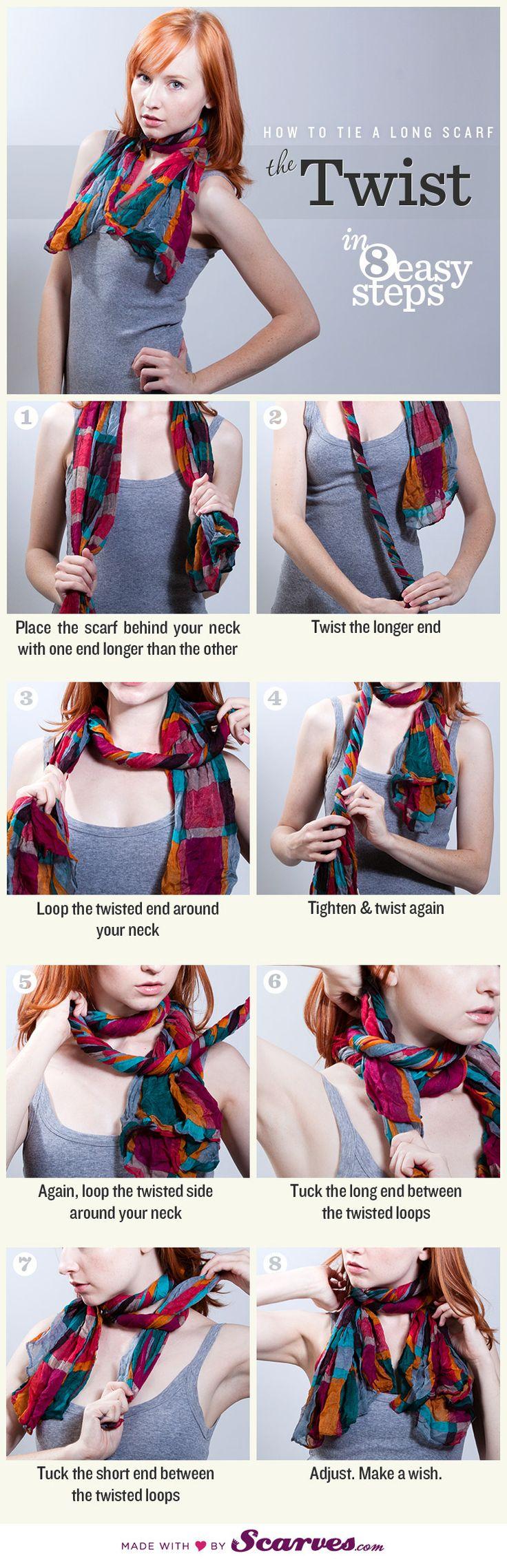 comment porter grand foulard