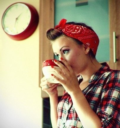 Comment Mettre Nouer Porter Foulard Cheveux Pin Up
