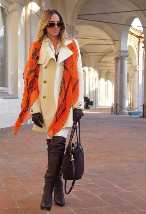 foulard couleur automne