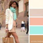 Foulard et écharpe couleurs tendance mode Automne hiver 2016