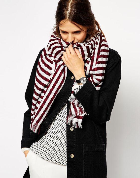 idee de look foulard femme Comment s habiller quand on est mince   626335f4103